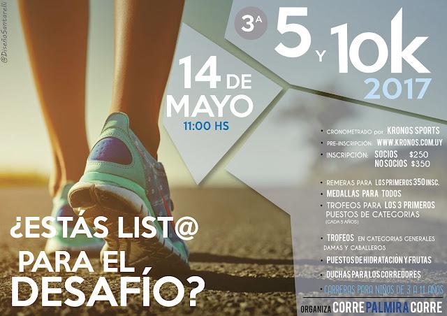 10k y 5k Corre Palmira Corre (Nueva Palmira - Colonia, 14/may/2017)