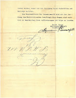 Letter, U-112, reverse