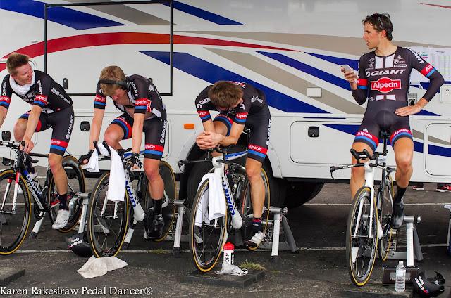 Team Giant Alpecin on time trial bikes