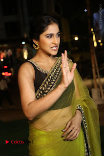 Actress Regina Stills in Green Saree at Vivaha Bhojanambu Restaurant Launch  0044.JPG