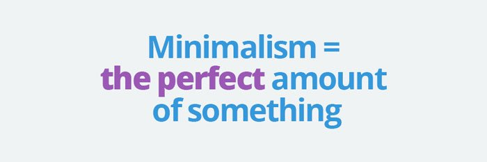 Dmeaon for Minimalist design definition