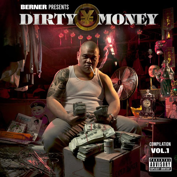 Various Artists - Berner Presents Dirty Money - Compilation Vol. 1 Cover