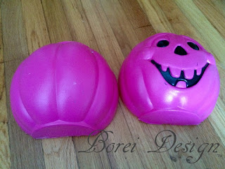 DIY craft tutorial how to make your own paper mache pumpkin mold by upcycling a halloween bucket