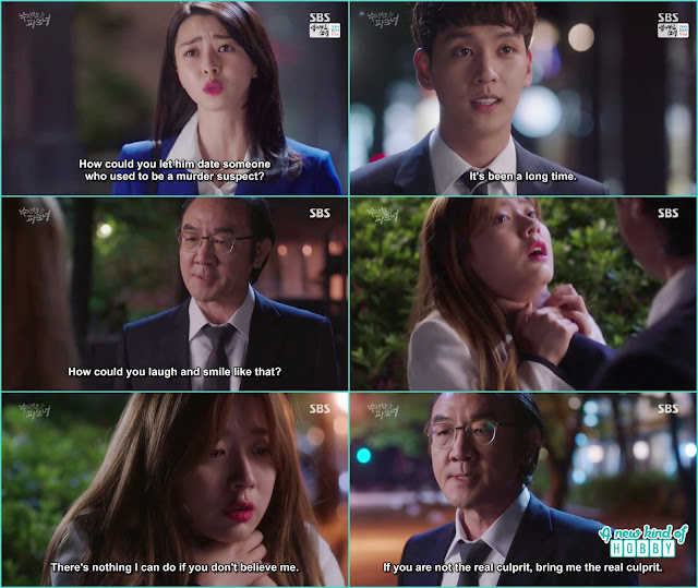 yoo jung come to see eun hyuk and chief prosector chock the neck of bong hee in anger of his late son - Suspicious Partner: Episode 11 & 12 korean drama