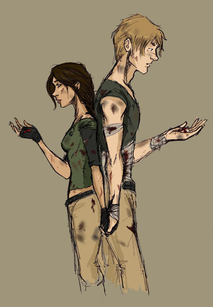 Hunger Games Fan Art Katniss And Peeta Blue Sky Booksh...
