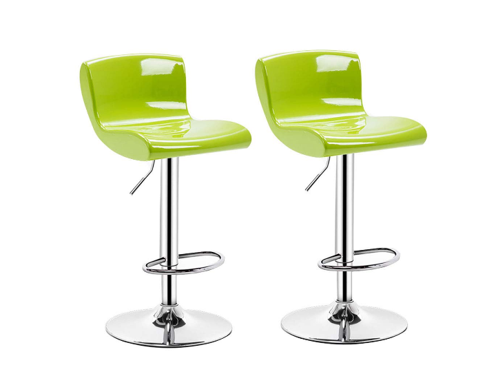 NYJS Bar Stool,Bar Chair Set of 2Bar Stools Set with Backrest