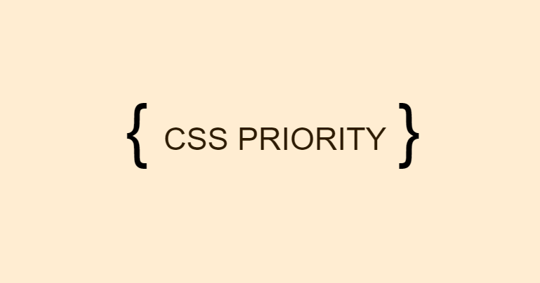 CSS priority
