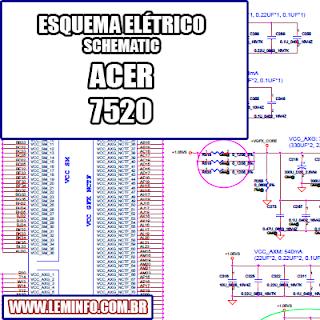 Esquema Elétrico Notebook Laptop Manual de Serviço  Service Manual schematic Diagram Notebook ACER 7520 Laptop     Esquematico Notebook ACER 7520 Laptop