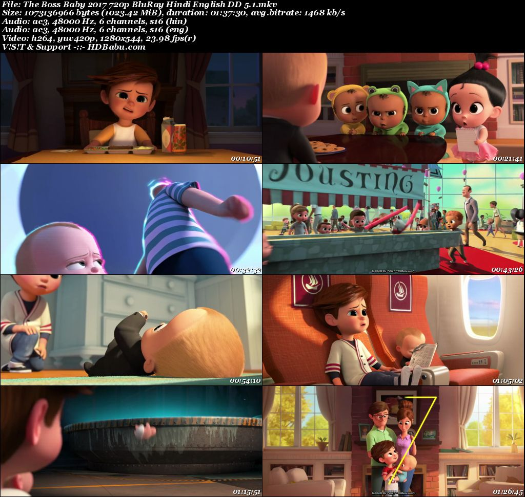 The Boss Baby Full Movie Download, The Boss Baby 2017 English 720p Web-DL Screenshot
