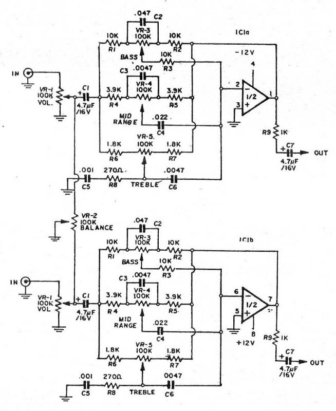 help  ne5532p tone control circuit