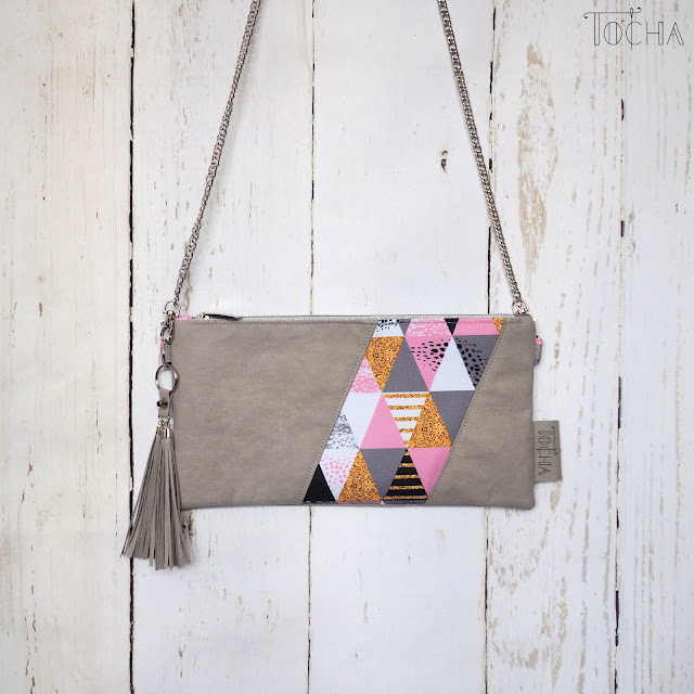 acute, cute, triangle, geometry, Washpapa, vegan leather, hobo, pouch, shoulder bag, cross-body bag, purse, cosmetic bag, washable paper, waterproof,