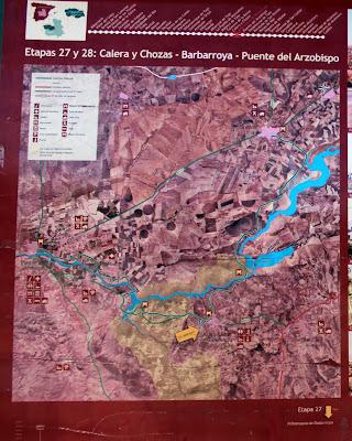 Mapa de la Vía verde de la Jara