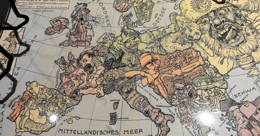 Humoristische Karte Von Europa 1914.Casa Splendini Humoristische Karte 1914