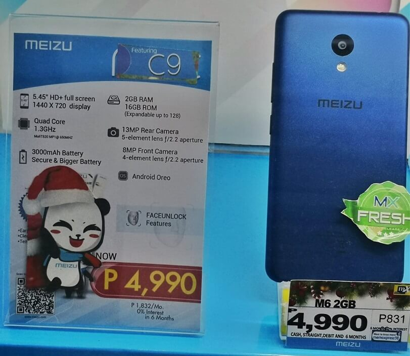 Meizu C9 Now Available in the Philippines for Php4,999