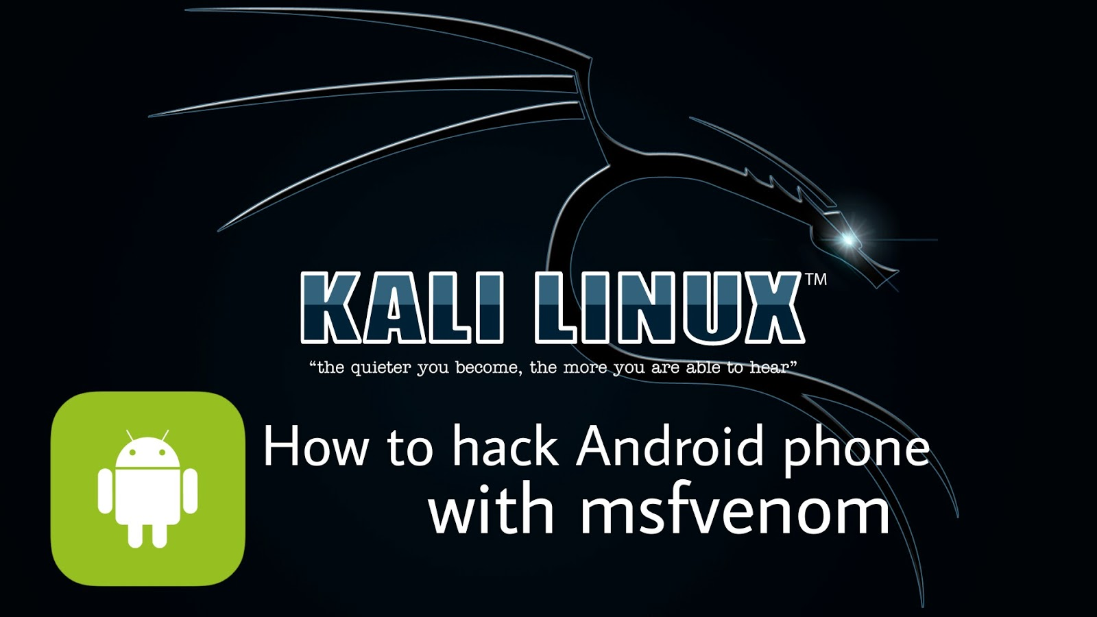 How to hack Android phone with msfvenom