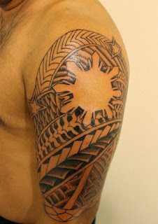 Tribal Tattoo With Sun in the Center