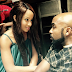 Banky W and fiancee Adesua Etomi stare intensely at each other