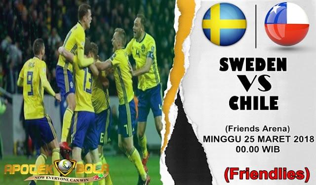 Prediksi Swedia vs Chile 25 Maret 2018