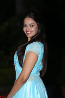 Pujita Ponnada in transparent sky blue dress at Darshakudu pre release ~  Exclusive Celebrities Galleries 082.JPG