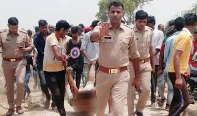 Human Rights Violation In Presence Of Uttar Pradesh Police