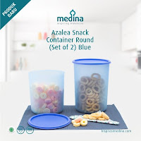 Dusdusan Azalea Snack Container Round Set (Set Of 2) Blue ANDHIMIND