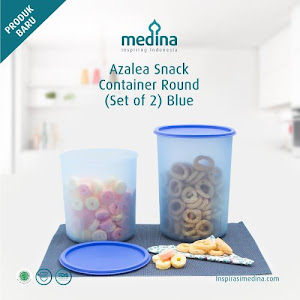 Azalea Snack Container Round Set (Set Of 2) Blue
