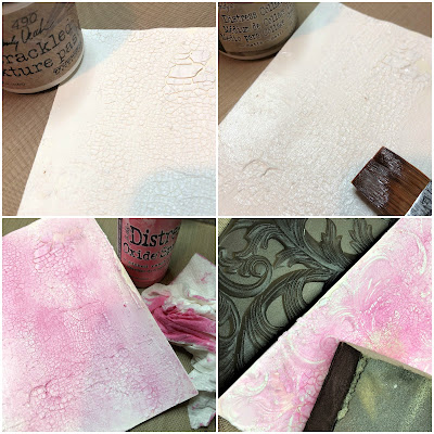 Frilly and Funkie https://frillyandfunkie.blogspot.com/2019/04/saturday-showcase-seth-apters-baked.html Spring Card Tutorial with Tim Holtz 3D Embossing Seth Apter Baked Velvet by Sara Emily Barker 17