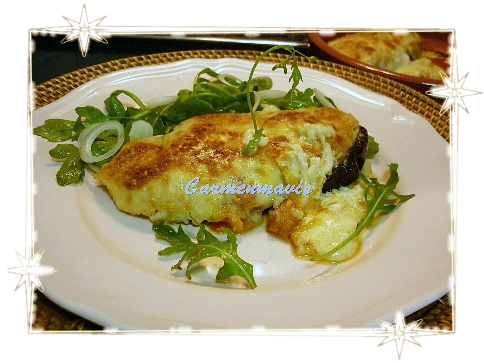 La cocina de carmenmavis berenjenas rellenas de bacalao y - Berenjenas rellenas de bacalao ...