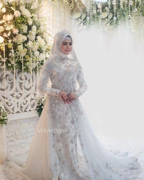 Model Kebaya Akad Nikah Berhijab Style Gamis