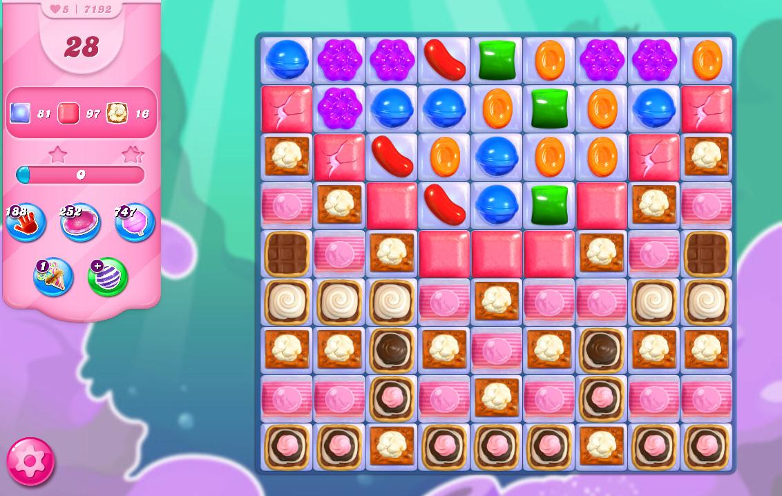 Candy Crush Saga level 7192