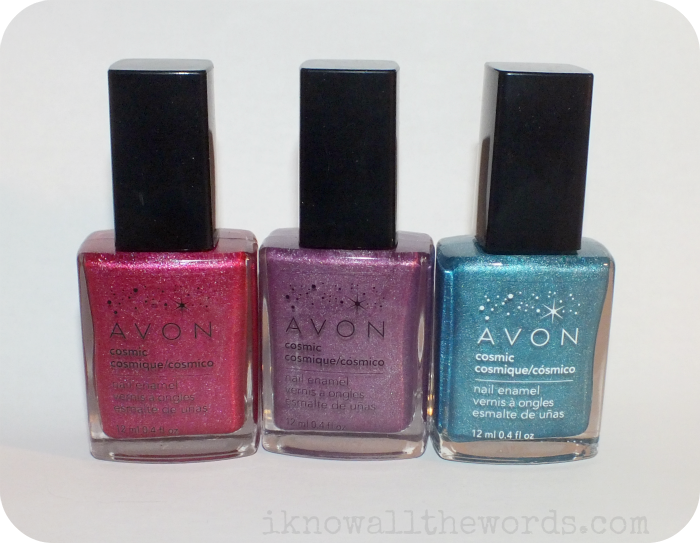 Avon Cosmic Nail Enamel- Starburst, Aurora, and Galaxy