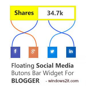 Thêm nút share trượt dọc cho Blogspot Pro Version 1