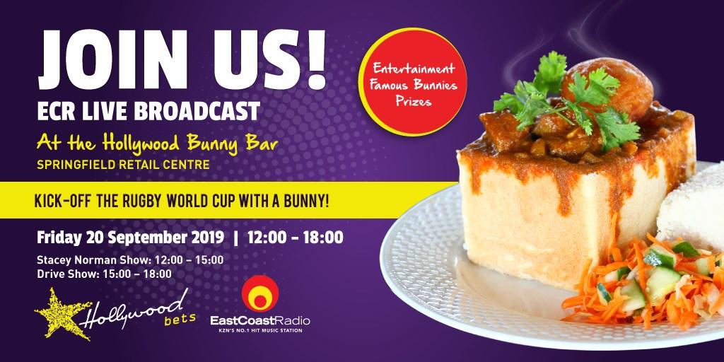 East Coast Radio Outdoor Broadcast at Hollywood Bunny Bar - Bunny Chow - Hollywoodbets - Friday 20 September 2019