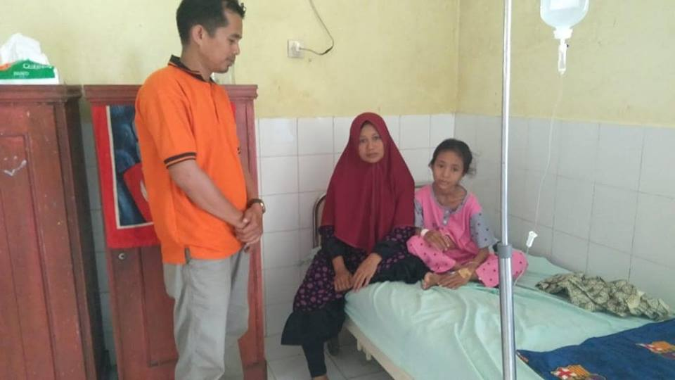 LPD Kunjungi Rahma Penderita Gizi Buruk dan Penjepitan Paru