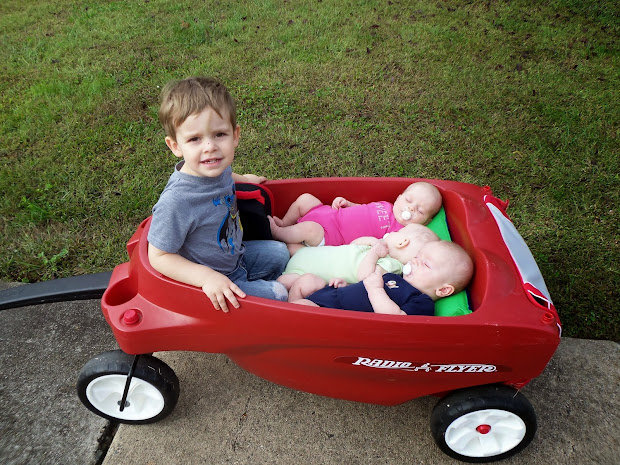 Triplets Toddler Radio Flyer Triple Play Wagon