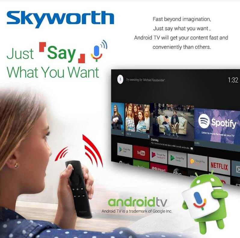 Skyworth Android TV, Just Say What You Want