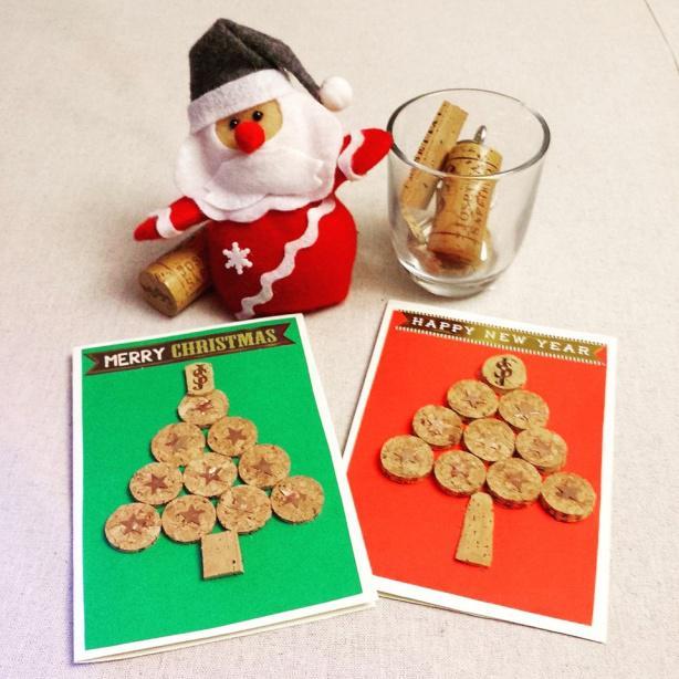 Lavoretti Di Natale Tappi Sughero.Albero Di Natale Con Tappi Di Sughero Diy Segnaposto Di Natale