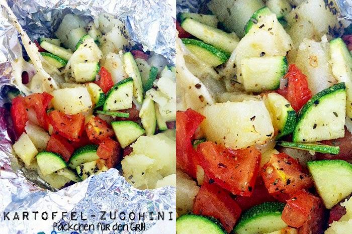 Kartoffel-Zucchini Päckchen für den Grill
