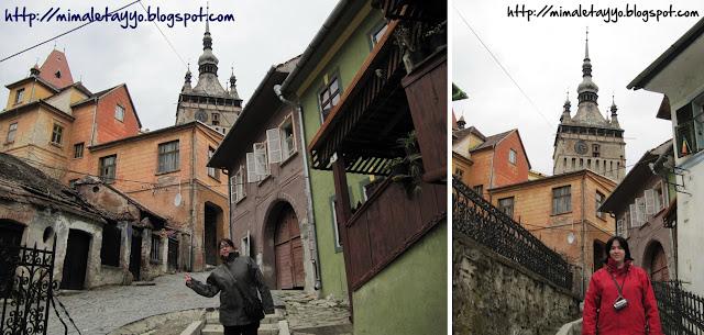 Entrando a la ciudadela de Sighisoara