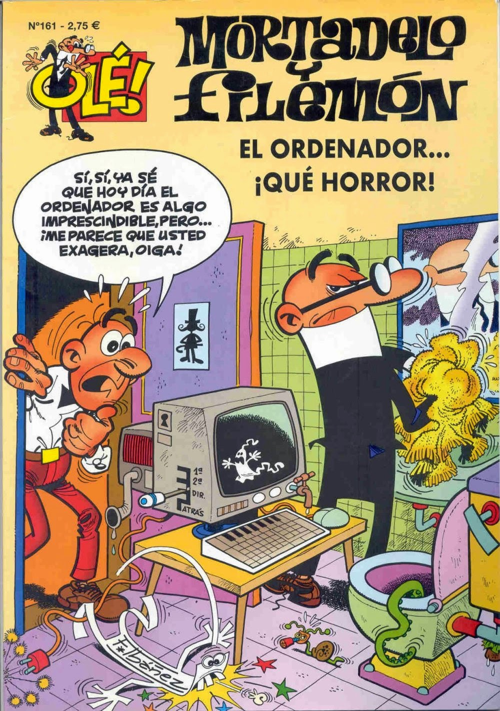 Mortadelo y Filemón. El ordenador...¡Qué horror! (Francisco Ibañez)