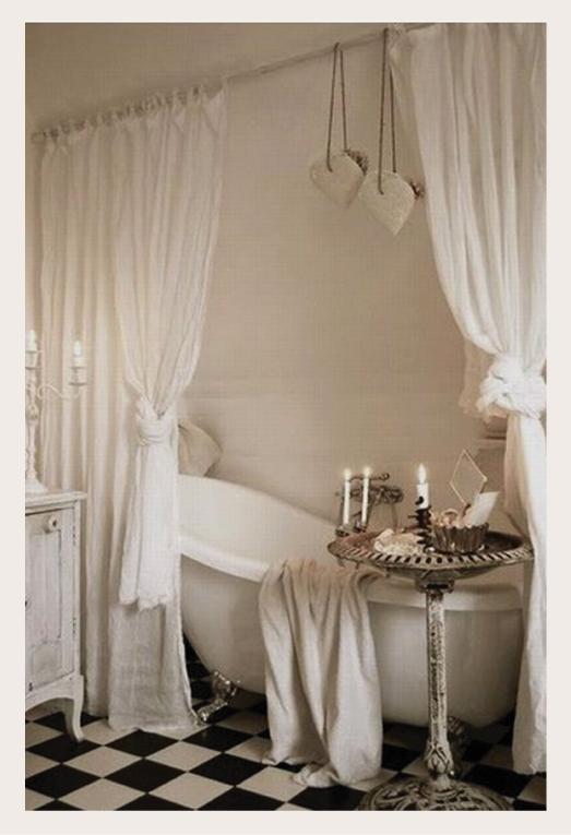 Dedicato a chi ama sognare la vasca vintage blog di - Tende vasca da bagno ...