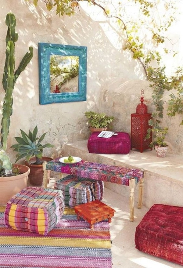 11 Ideas About Boho Chic Terraces - Very Cozy To Enjoy With Your Family 5