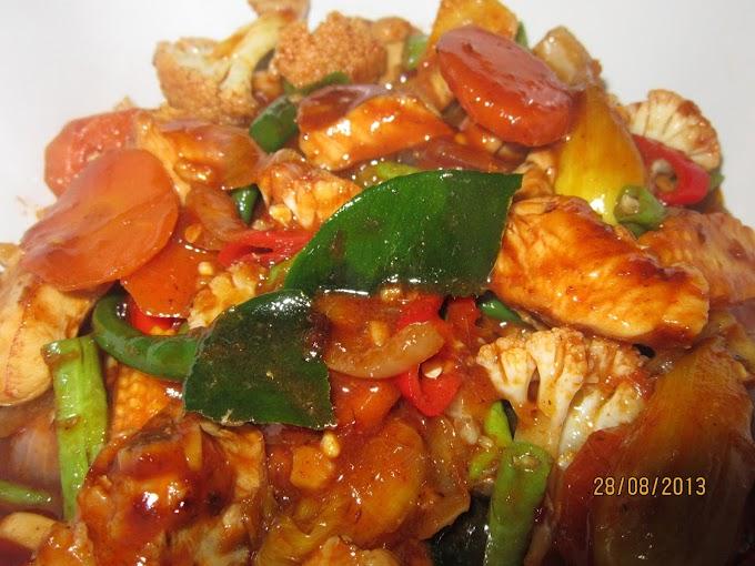 Resepi Ayam Padprik Kesukaan Ramai