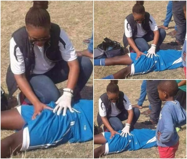 Viral News Update: See Viral Photo Of A Female Medical Officer Attending To