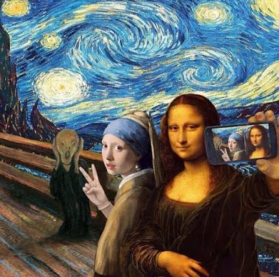 El grito de Munch - Versión Selfie Monalisa
