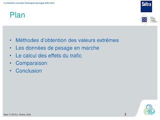 trafic sur les ouvrages d'art : Estimation statistique des charges extrêmes 2
