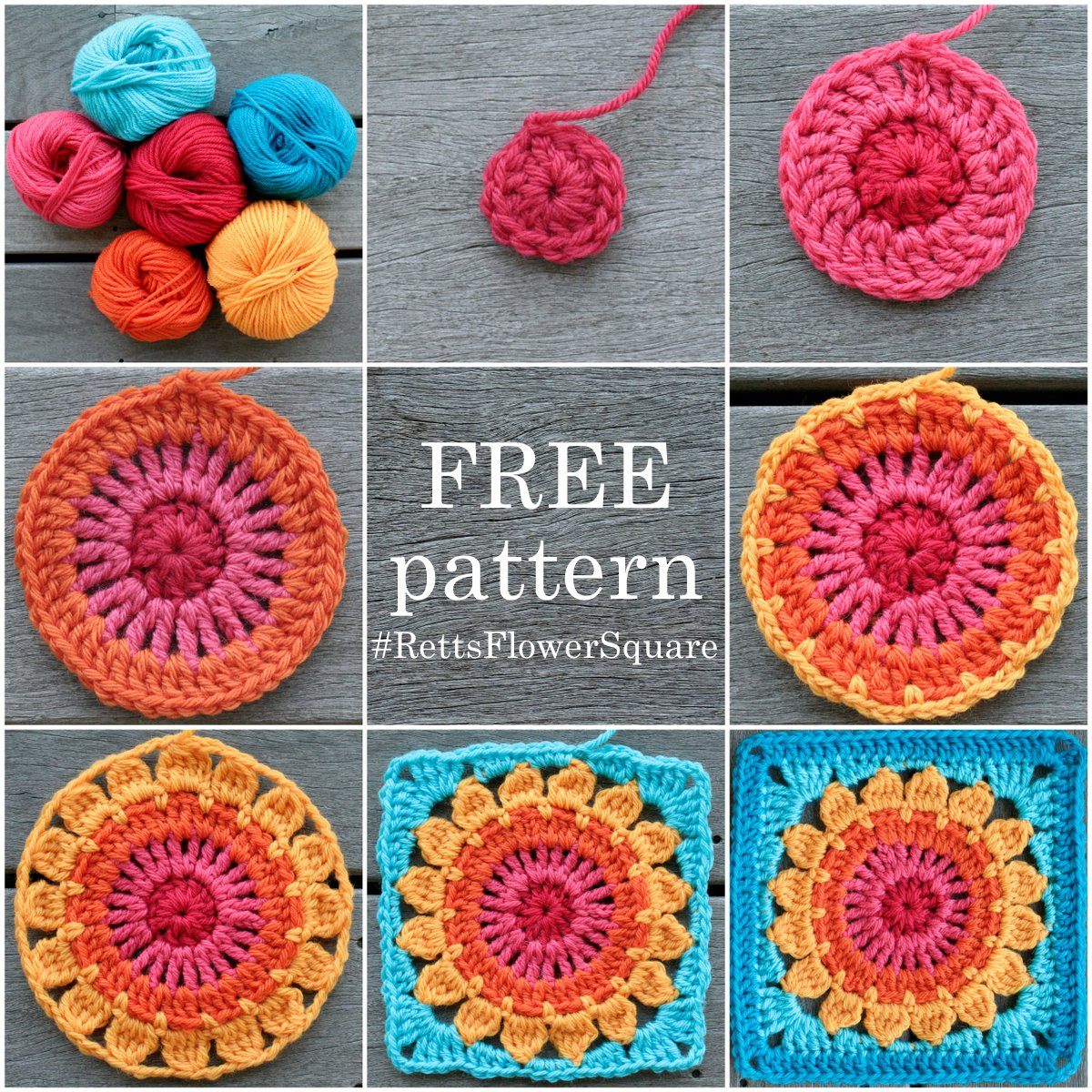 Rett's Flower Square Pattern