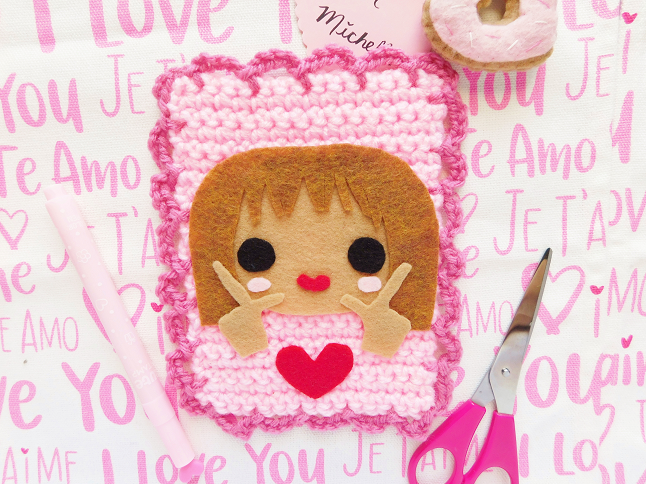 Valentine's Day Card Crochet Pattern