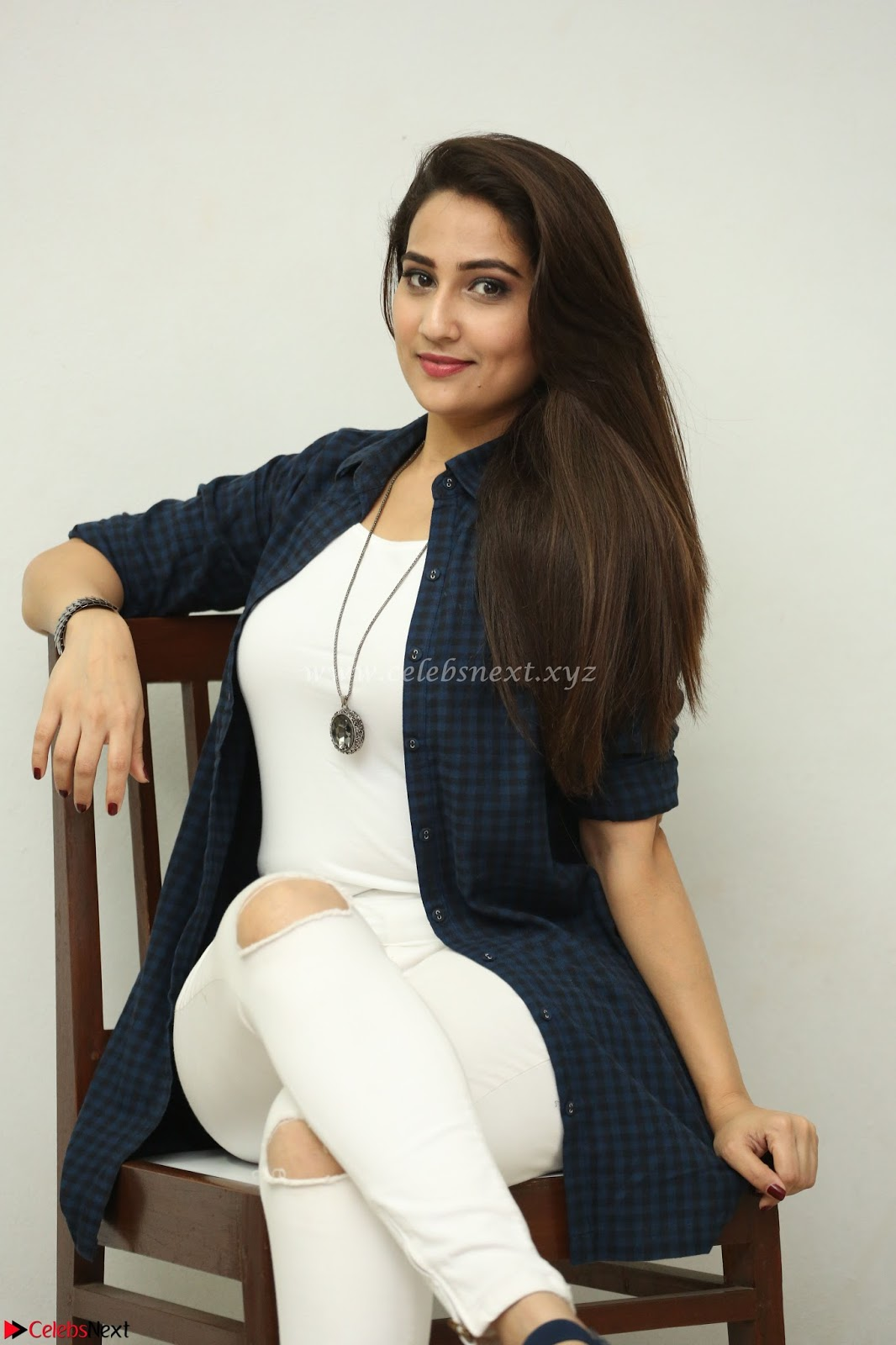 Manjusha in White Tight T-Shirt and Black Jacket ~ CelebsNext Exclusive Celebrities Galleries