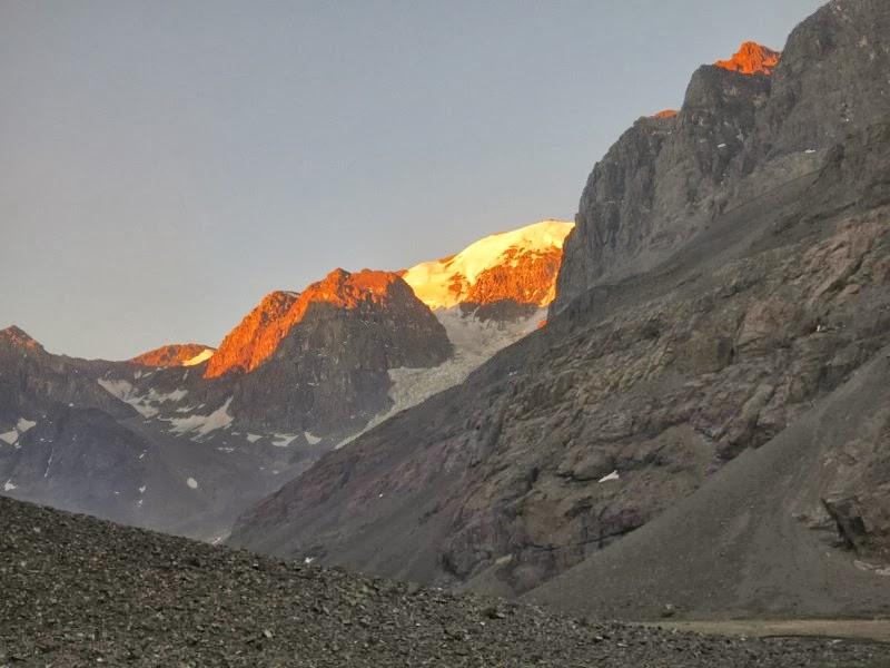 Abendlicher Blick zum Gipfel